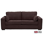 more details on Heart of House Eton Large Fabric Sofa - Chocolate.