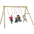 more details on Plum Vervet Wooden Garden Swing Set.
