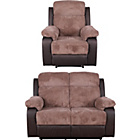 more details on Bradley Regular Fabric Recliner Sofa and Chair - Natural.