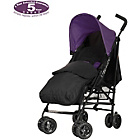 more details on Obaby Atlas Black/Grey Stroller - Purple and Black Footmuff.