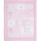 more details on Obaby B is for Bear Quilt & Bumper Set - Pink.