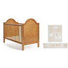 more details on Obaby B is Bear Cot Bed, Mattress and Cream Set - Pine.