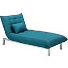 more details on Durdham Fabric Chaise Longue Sofa Bed - Teal.