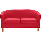more details on ColourMatch Leather Effect Tub Sofa - Poppy Red.