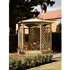 more details on Grange Fencing Budleigh Hexagonal Gazebo Dressed A.