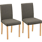 more details on Aston Pair of Charcoal Fabric Dining Chairs.