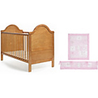 more details on Obaby B is for Bear Cot Bed, Mattress and Pink Set - Pine.