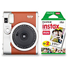 more details on Fujifilm Instax Mini 90 Camera with 10 Shots - Brown.