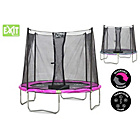 more details on EXIT Twist 8ft Pink/Grey Trampoline and Enclosure.