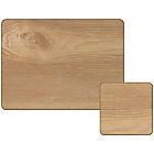 more details on Creative Tops 4 Oak Veener Mats and Coasters - Wood.