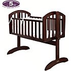 more details on Obaby Sophie Swinging Crib, Mattress and White Set - Walnut.