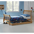 more details on Harry Sleigh Single Bed Frame with Storage - Pine.