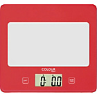 more details on ColourMatch Square Digital Kitchen Scale - Poppy Red.