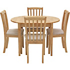 more details on Banbury Extendable Dining Table and 4 Natural Chairs.