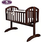 more details on Obaby Sophie Swinging Crib, Mattress and Cream Set - Walnut.