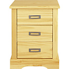 more details on Collection Mendoza 3 Drawer Bedside Chest - Pine.