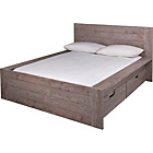 more details on Seattle Kingsize 2 Drawer Storage Bed Frame - Smokey Oak.