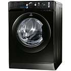 more details on Indesit XWD71452K 7KG 1400 Spin Washing Machine-Ins/Del/Rec.
