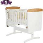 more details on Disney Winnie the Pooh Gliding Crib and Mattress - White.