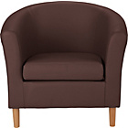 more details on ColourMatch Leather Effect Tub Chair - Chocolate.