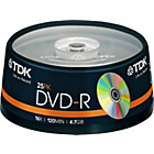 more details on TDK DVD-R Pack of 25 on a Spindle.