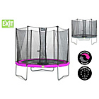 more details on EXIT Twist 10ft Pink/Grey Trampoline and Enclosure.