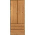 more details on New Malibu 2 Door 3 Drawer Wardrobe - Pine Effect.