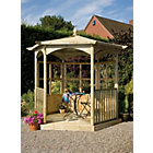 more details on Grange Fencing Budleigh Hexagonal Gazebo Dressed B.