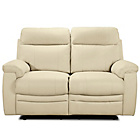 more details on Paulo Regular Leather Recliner Sofa - Ivory.