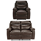 more details on Collection New Paolo Reg Leather Recliner Sofa/Chair -Choc