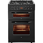 more details on Bush BUDFD60B Double Dual Fuel Cooker - Black/Exp Del.