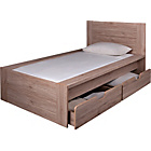 more details on Seattle Single 2 Drawer Storage Bed Frame - Warm Oak.