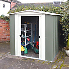 more details on Rowlinson Greenvale Metal Apex Shed - 8ft x 6ft.