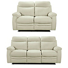 more details on Collection New Paolo Large and Reg Manual Recline Sofa-Ivory