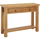 more details on Knightsbridge 2 Drawer Console Table - Oak.