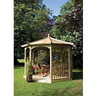 more details on Grange Fencing Regis Octagonal Gazebo Dressed A.