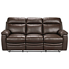 more details on Paulo Large Leather Recliner Sofa - Chocolate.