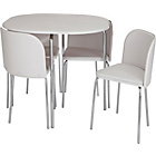 more details on Hygena Amparo Dining Table and 4 Chairs - White.