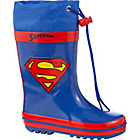 more details on Superman Boys' Blue and Red Wellies - Size 8.