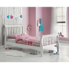 more details on Daisy Sleigh Single Bed Frame - White.