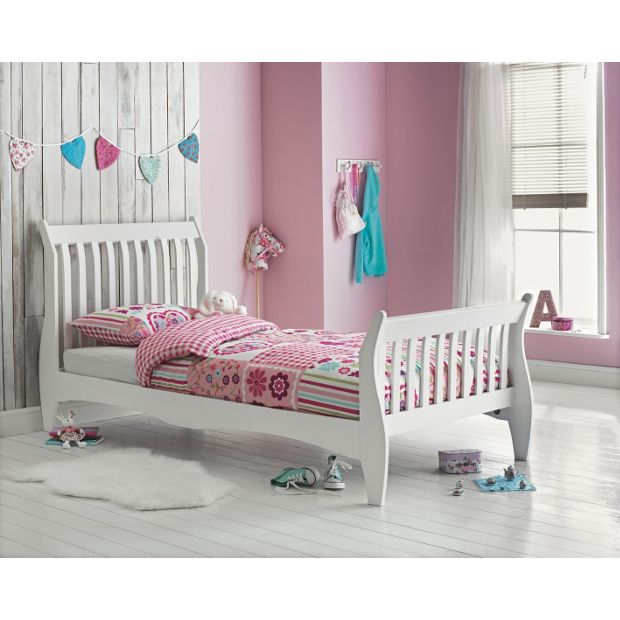 Buy Daisy Single Sleigh Bed Frame White At Argos Co Uk