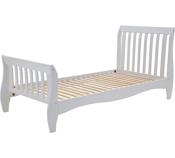Buy Collection Daisy Sleigh Single Bed Frame White At