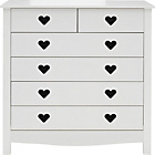 more details on Mia 4 + 2 Drawer Chest - White.