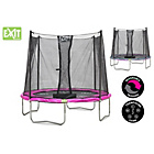 more details on EXIT Twist 6ft Pink/Grey Trampoline and Enclosure.