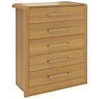 more details on Heart of House Elford 5 Drawer Chest - Oak Effect.
