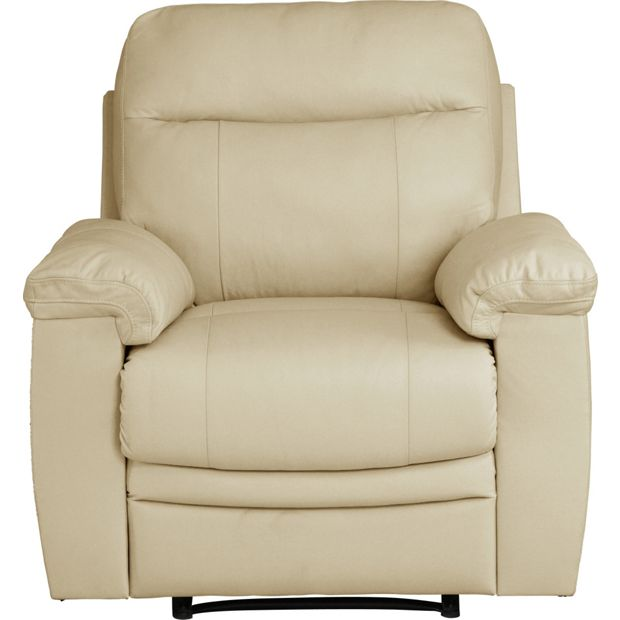 Buy Collection New Paolo Manual Recliner Chair Ivory At