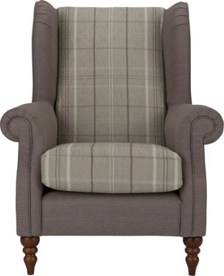 Buy Heart Of House Argyll Checked Fabric Chair Duck Egg