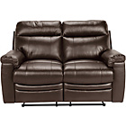 more details on Paulo Regular Leather Recliner Sofa - Chocolate.