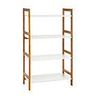 more details on Habitat Drew Wide 4 Shelf Bookcase - White and Bamboo.