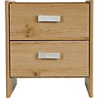 more details on New Capella 2 Drawer Bedside Chest - Oak Effect.